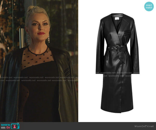 Faux Leather Coat by Each x Other worn by Alexis Carrington (Elaine Hendrix) on Dynasty