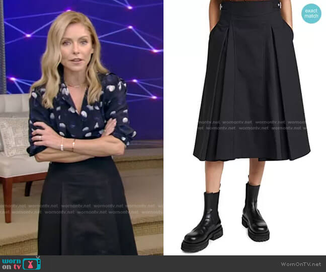 Biker Skirt by 3.1 Phillip Lim worn by Kelly Ripa  on Live with Kelly & Ryan