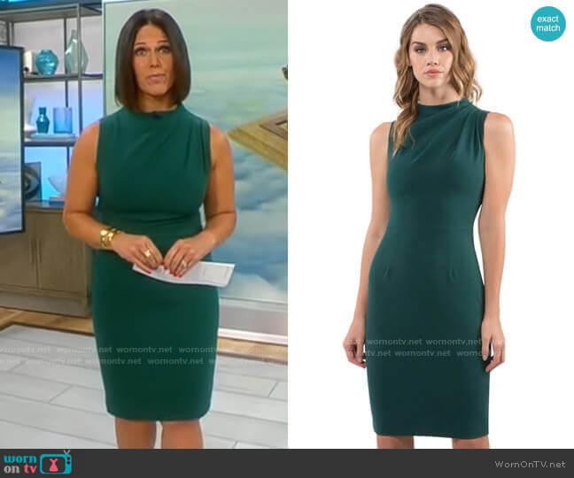 Black Halo Corrine Dress worn by Dana Jacobson  on CBS Mornings