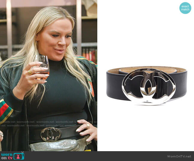 Oval Buckle Belt by Chanel worn by Heather Gay  on The Real Housewives of Salt Lake City