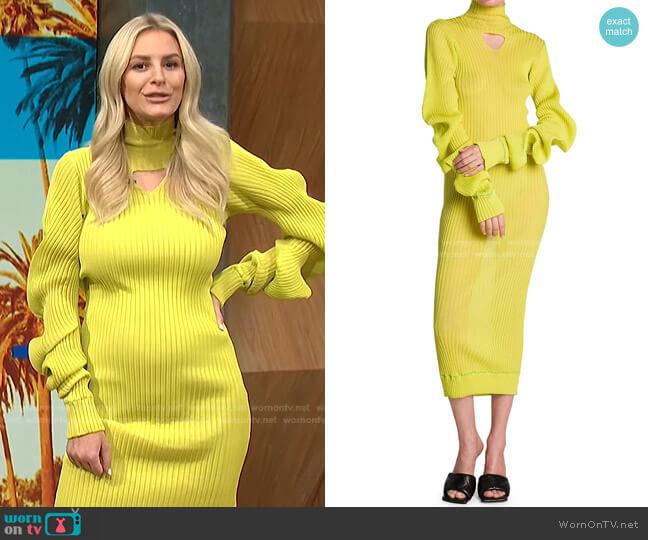 Lightweight Spirals Knit Midi Dress by Bottega Veneta worn by Morgan Stewart  on E! News