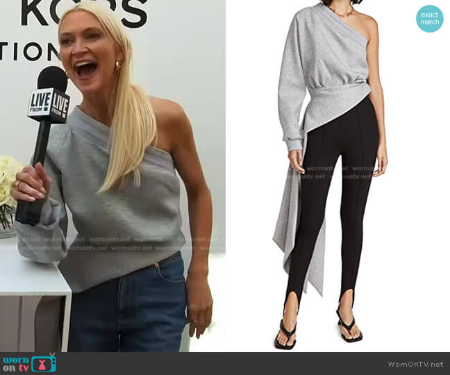 Jersey One Shoulder Top by Brandon Maxwell worn by Zanna Roberts Rassi on E! News Daily Pop