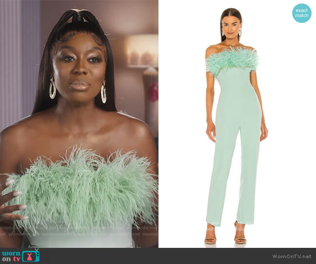 Lola Jumpsuit by Bronx and Banco worn by Wendy Osefo  on The Real Housewives of Potomac