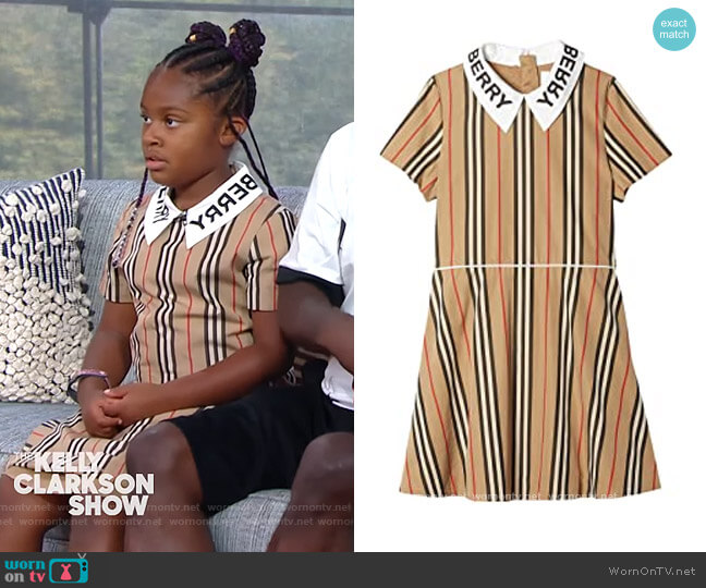 Cambria Dress by Burberry worn by Maven Morgan on The Kelly Clarkson Show