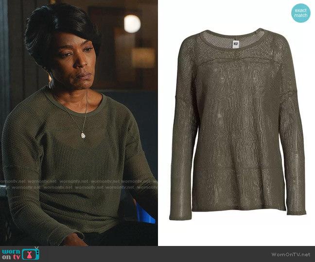 Carla Mesh-Knit Top by NSF worn by Athena Grant (Angela Bassett) on 9-1-1