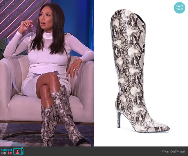 Riser Boots by Chinese Laundry worn by Adrienne Houghton  on The Real