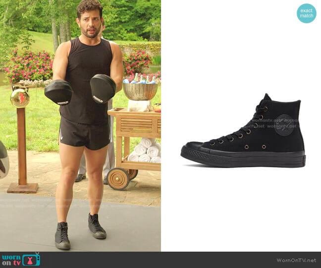 Taylor 70s Monochrome High Top Sneakers by Converse worn by Sam Flores (Rafael de la Fuente) on Dynasty