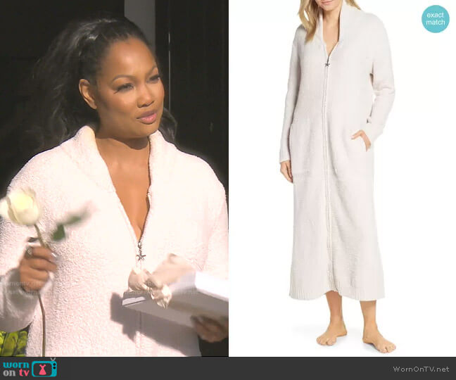 CozyChic Full Zip Robe by Barefoot Dreams worn by Garcelle Beauvais  on The Real Housewives of Beverly Hills