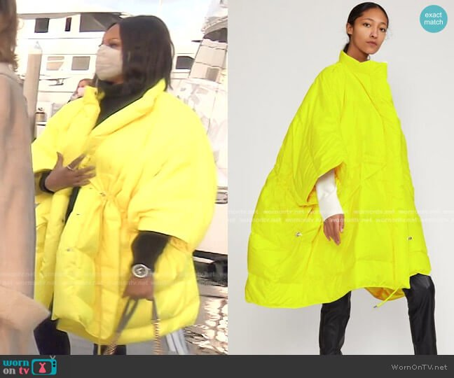 Cindy Down Puffer Jacket by Cynthia Rowley worn by Garcelle Beauvais  on The Real Housewives of Beverly Hills