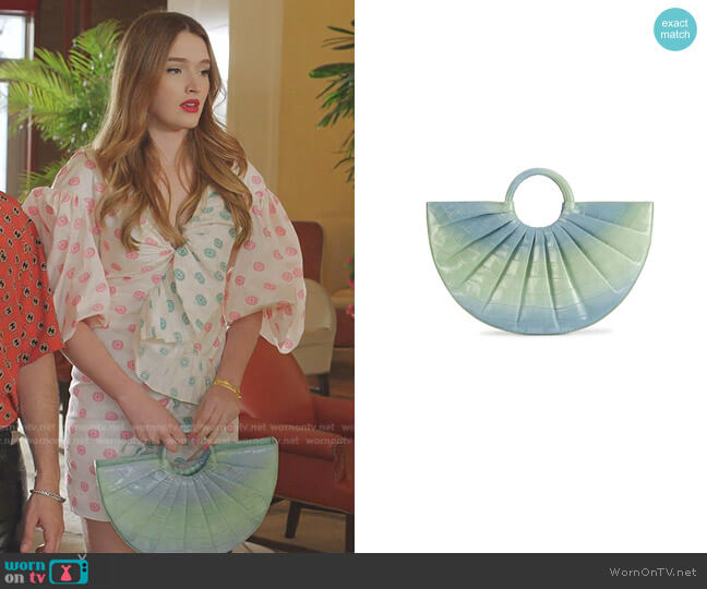 Pleated Bender Midi Croc by Deadly Ponies worn by Kirby Anders (Maddison Brown) on Dynasty