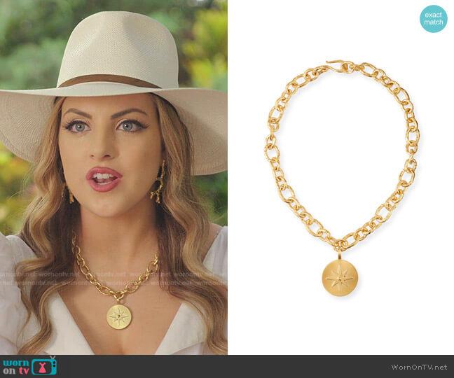 Phoenix Luxe Star Necklace by Dina Mackney worn by Fallon Carrington (Elizabeth Gillies) on Dynasty