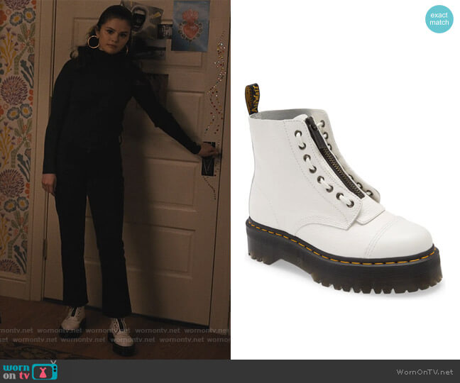 Sinclair White Boots by Dr Martens worn by Mabel Mora (Selena Gomez) on Only Murders in the Building