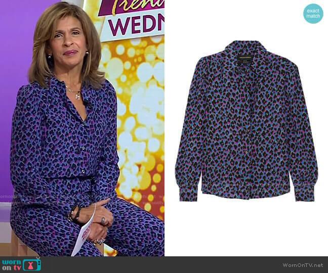 Elise Animal Print Silk Shirt by Vanessa Seward worn by Hoda Kotb  on Today