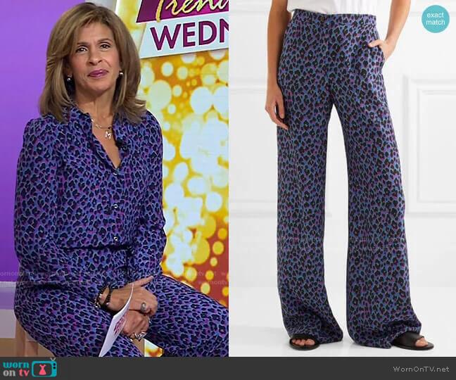Emmanuelle Wide-Leg Pants by Vanessa Seward worn by Hoda Kotb  on Today