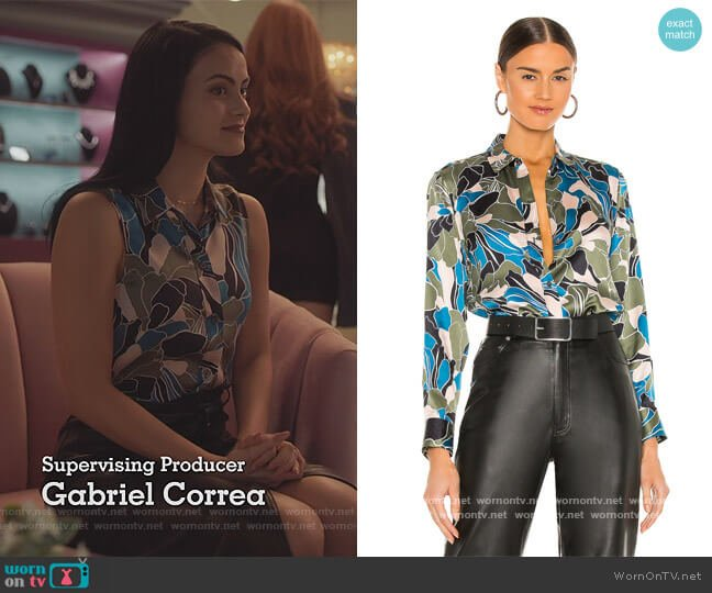 Leema Blouse by Equipment worn by Veronica Lodge (Camila Mendes) on Riverdale