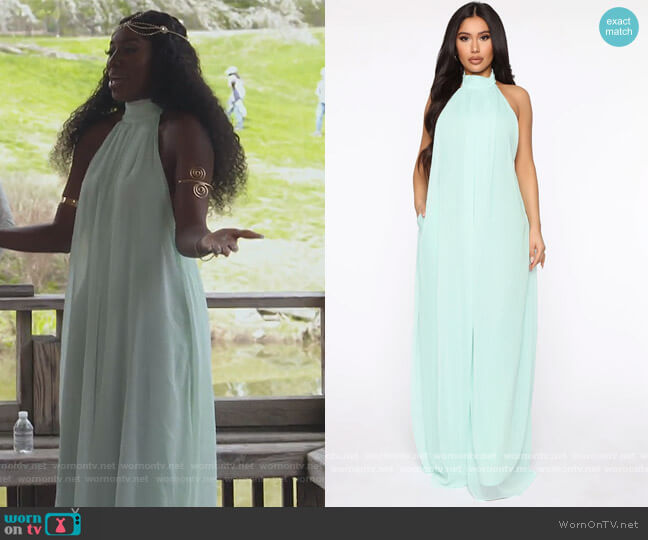 All The Flow Wide Leg Jumpsuit by Fashion Nova worn by Wendy Osefo  on The Real Housewives of Potomac