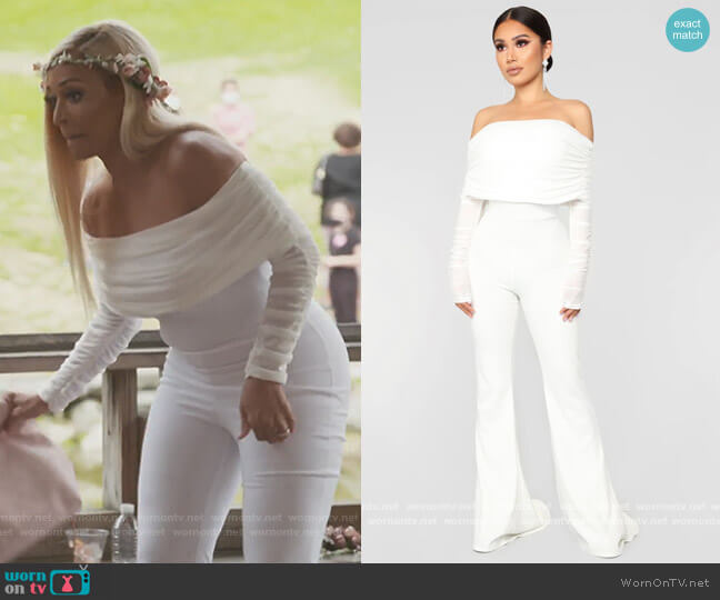 Kendall Ruched Jumpsuit by Fashion Nova worn by Karen Huger  on The Real Housewives of Potomac