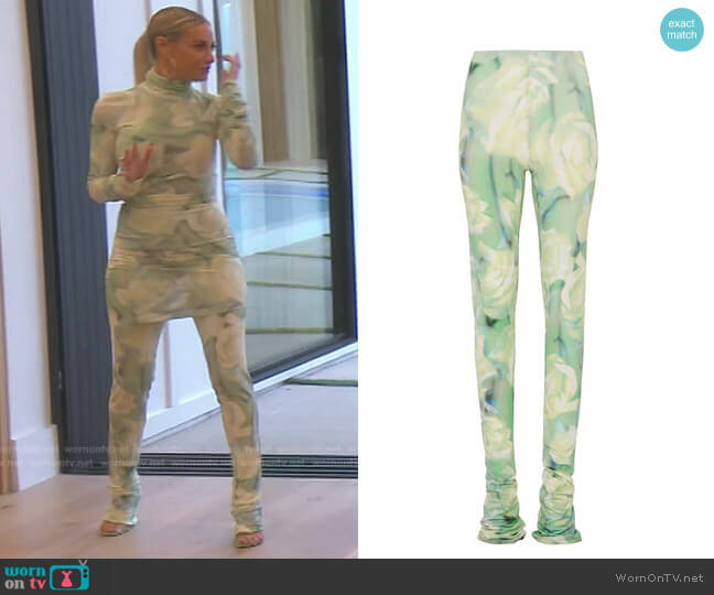 Extra Long Trousers by Fenty worn by Dorit Kemsley  on The Real Housewives of Beverly Hills