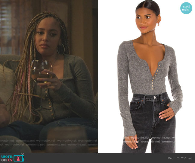 Dylan Thermal Bodysuit by Free People worn by Toni Topaz (Vanessa Morgan) on Riverdale