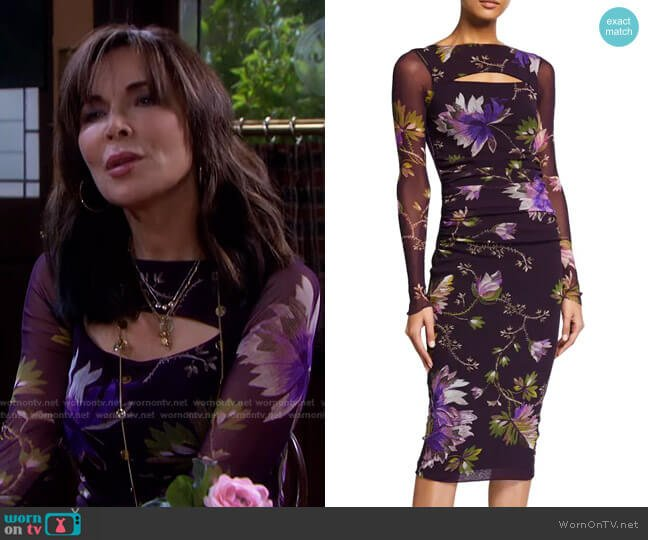 Peek-A-Boo Long Sleeve Fitted Dress by Fuzzi worn by Kate Roberts (Lauren Koslow) on Days of our Lives