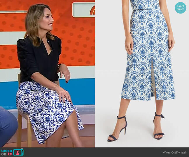 Andersen Pencil Skirt by G. Label worn by Savannah Guthrie  on Today