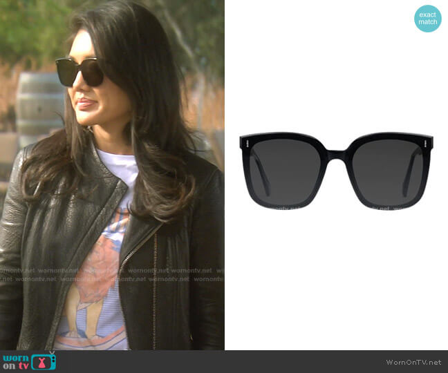 Frida Oversized Frame Sunglasses by Gentle Monster worn by Crystal Kung Minkoff  on The Real Housewives of Beverly Hills