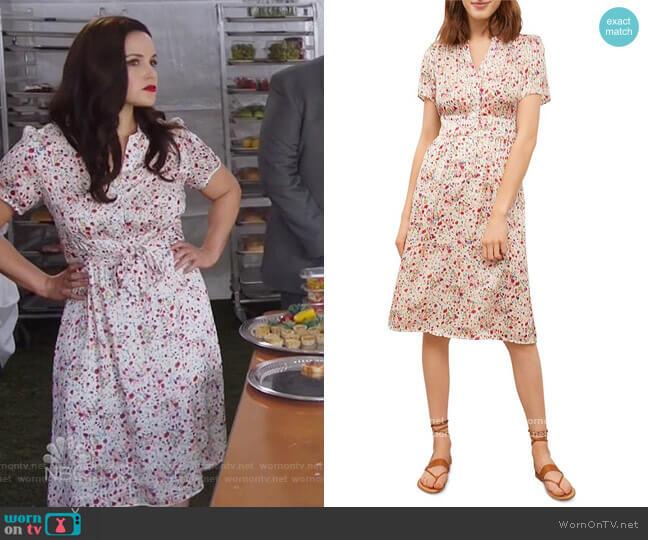 Stacey Crinkle Floral Dress by Gerard Darel worn by Amy Santiago (Melissa Fumero) on Brooklyn Nine-Nine