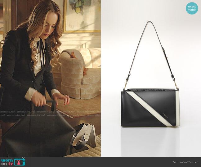 Aline Mix Shoulder Bag by Giaquinto worn by Fallon Carrington (Elizabeth Gillies) on Dynasty