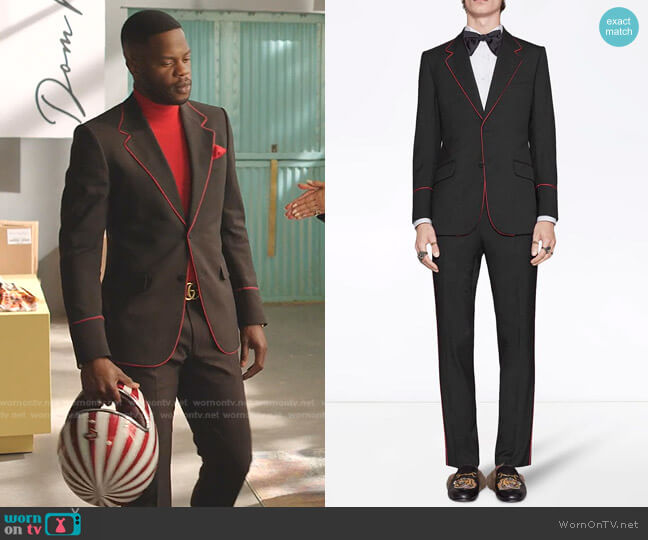Heritage Tuxedo with Piping by Gucci worn by Jeff Colby (Sam Adegoke) on Dynasty