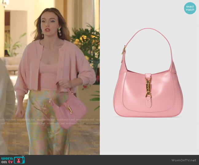 Jackie 1961 Small Shoulder Bag by Gucci worn by Kirby Anders (Maddison Brown) on Dynasty