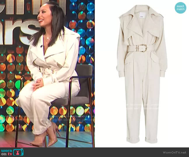 Hanbury Belted Cotton-Blend Jumpsuit by Acler worn by Cheryl Burke on E! News Daily Pop