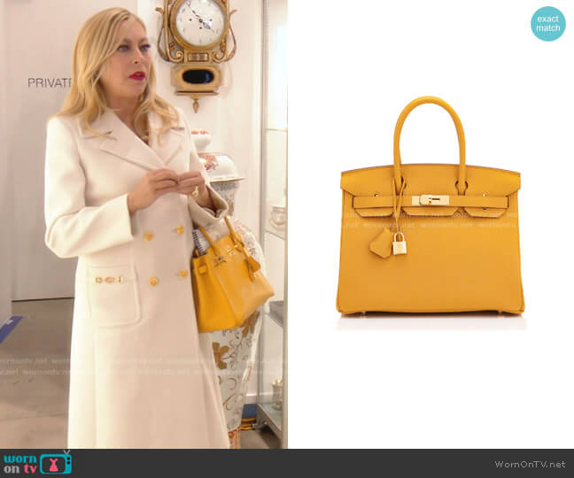 Birkin Bag by Hermes worn by Sutton Stracke  on The Real Housewives of Beverly Hills