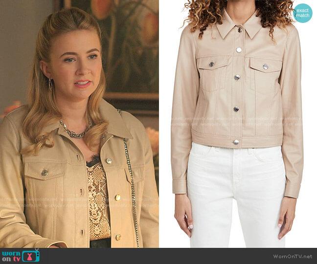Juste Jacket by IRO worn by Amanda Carrington (Eliza Bennett) on Dynasty