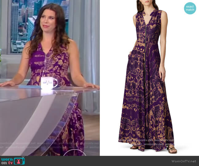 Purple Sleeveless Dress by Kahindo worn by Mary Katharine Ham on The View