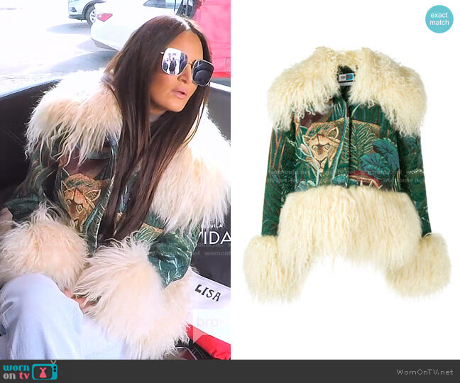 Trim-Detail Embroidered Jacket by Kenzo worn by Lisa Barlow  on The Real Housewives of Salt Lake City