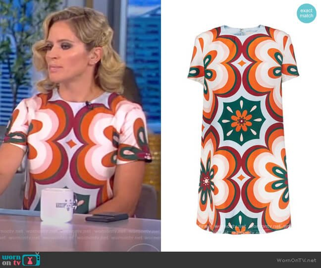 Swing Printed Mini Dress by LA Double J worn by Sara Haines  on The View