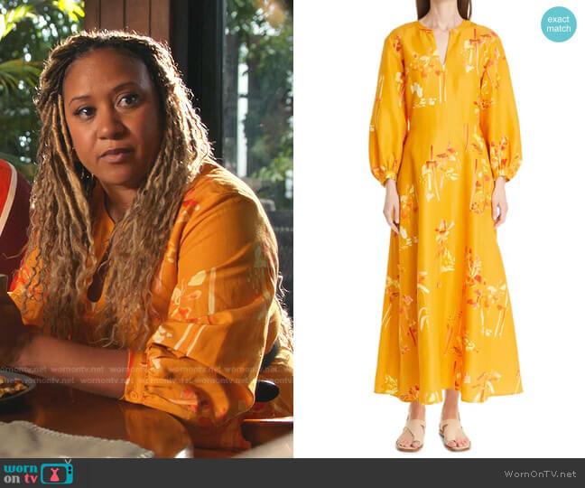 Leona Dress by Lafayette 148 New York worn by Tracie Thoms on 9-1-1