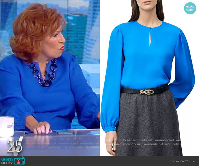 Layton Puff Sleeve Top by Lafayette 148 worn by Joy Behar  on The View