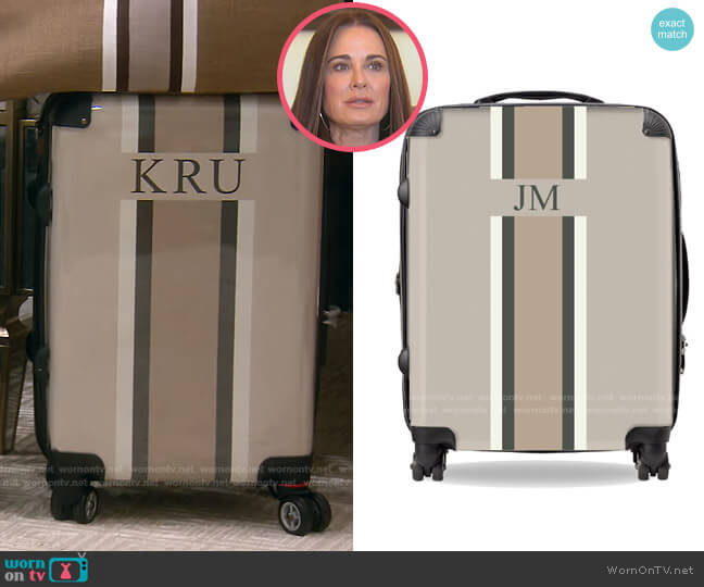 Your Own Luggage by Lily and Bean worn by Kyle Richards  on The Real Housewives of Beverly Hills