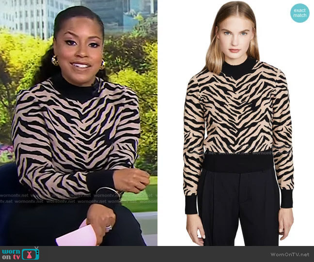 Lola Sweater by A.L.C. worn by Sheinelle Jones  on Today