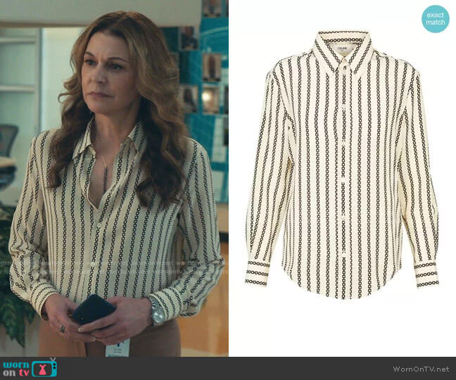 Loose Shirt in Crepe De Chine by Celine worn by Kit Voss (Jane Leeves) on The Resident