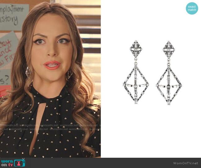 Proxima Earrings by Lulu Frost  worn by Fallon Carrington (Elizabeth Gillies) on Dynasty