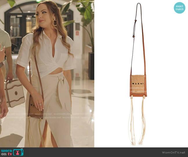 Small Fringe Summer Bag by Marni worn by Fallon Carrington (Elizabeth Gillies) on Dynasty