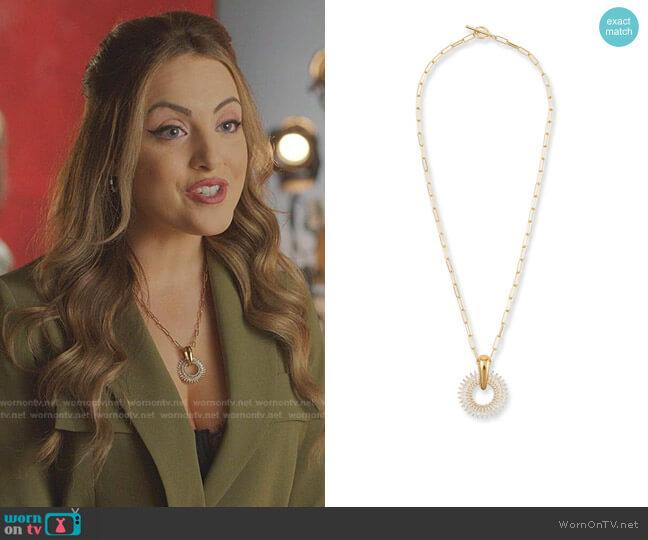 Madeline Pendant Necklace by Mignonne Gavigan worn by Fallon Carrington (Elizabeth Gillies) on Dynasty