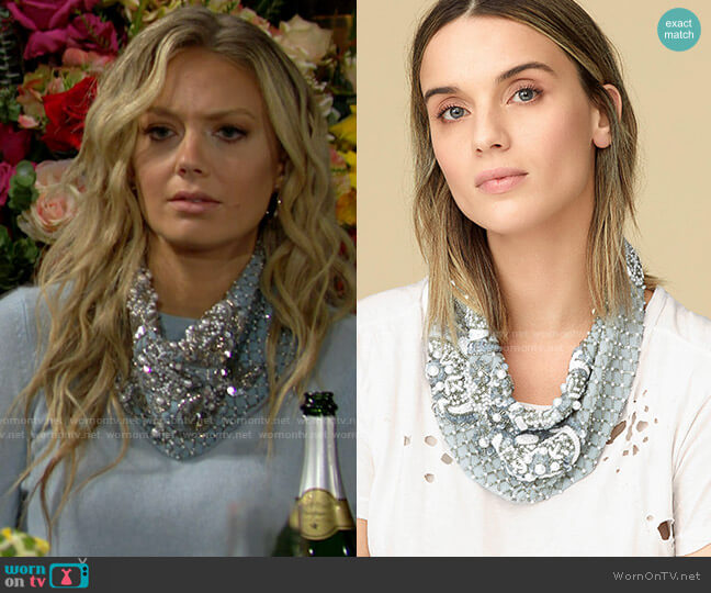 Mignonne Gavigan Le Charlot Necklace worn by Abby Newman (Melissa Ordway) on The Young & the Restless
