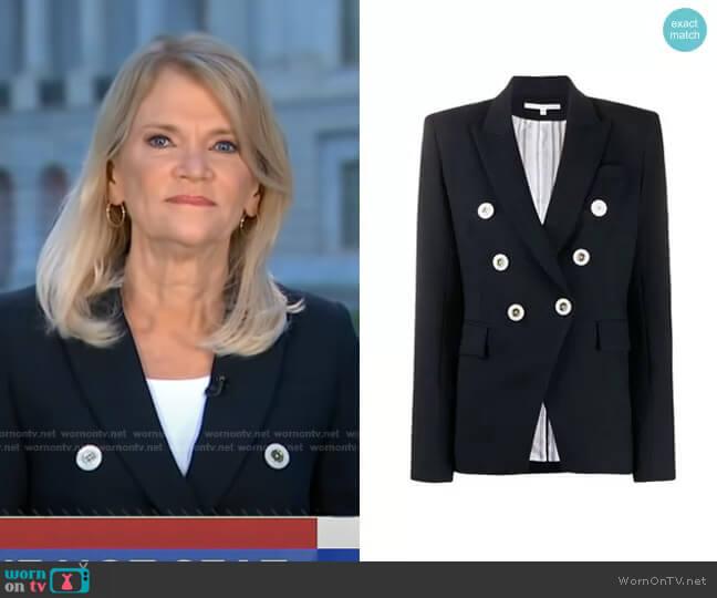 Miller Dickey Jacket by Veronica Beard worn by Martha Raddatz on GMA