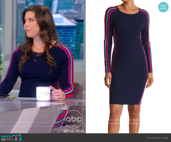 Racer Stripe Dress by Milly worn by Mary Katharine Ham on The View