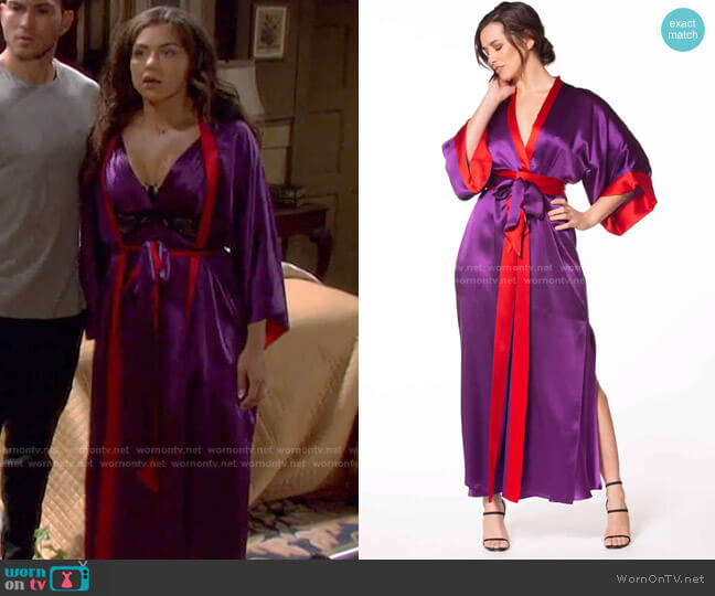 Moulin Rouge Long Robe by Christine Lingerie worn by Ciara Brady (Victoria Konefal) on Days of our Lives