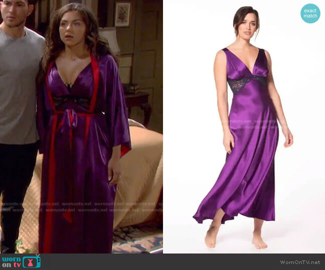 Moulin Rouge Chemise by Christine Lingerie worn by Ciara Brady (Victoria Konefal) on Days of our Lives