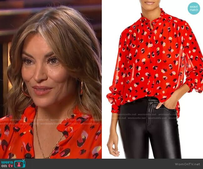 Myki Blouse by Derek Lam 10 Crosby worn by Kit Hoover  on Access Hollywood